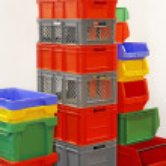 Plastic crates — Stock Photo #52887225
