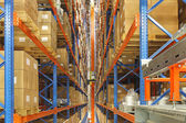 Automated storage and retrieval system — Stock fotografie