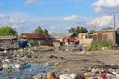 Gypsy settlement — Stock Photo