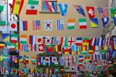 Banderas internacionales — Foto de Stock
