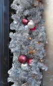 Christmas tinsel — Stockfoto