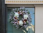 Window wreath — Stock Photo