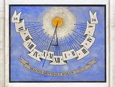 Sundial clock Ljubljana — Stock Photo