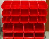 Parts rack red — Stock Photo
