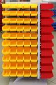 Plastic storage bins — Stock Photo