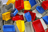 Plastic tubs and bins — Stock Photo
