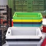 Plastic Crates — Stock Photo #79392122
