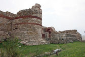 FORTIFICATION WALLS in Nessebar. Bulgaria — Stock Photo