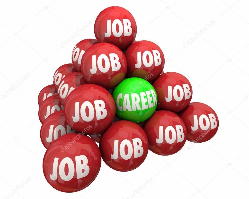 job vs career ball pyramid employment working stock photo job vs career ball pyramid employment working stock photo 124231608