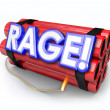 Rage Dynamite Bomb Explosive Anger About to Blow Up — Stock Photo #52846937