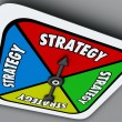 Strategy Word Board Game Spinner Your Turn Win Competition — Stock Photo #52847413