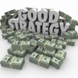 Good Strategy Earning More Money Financial Advice Plan — Stock Photo #52847475