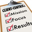 Client Centric Checklist To Do Mission Goals — Stock Photo #52847951