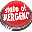 State of Emergency Red Flashing Light Button Warning Danger Cris — Stock Photo #52848045