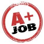 A Plus Job Stamp Grade Score Best Performance Test — Stock Photo #52848517