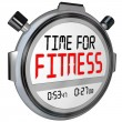 Time for Fitness Words Stopwatch Timer Training Exercise — Stock Photo #52849799