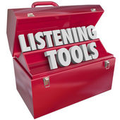 Listening Tools Toolbox Social Media Monitoring Resources — Foto Stock