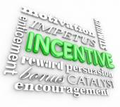 Incentive 3d Word Background Motivation Rewards Encouragement — Foto de Stock