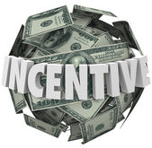 Incentive Word Money Ball Encouragement Buy Sell More — Stok fotoğraf