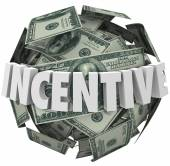 Incentive Word Money Ball Encouragement Buy Sell More — Stock Photo