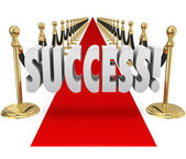 Success 3d Word Red Carpet VIP Exclusive Entrance Arrival — Stock Photo