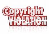 Copyright Violation Legal Rights Infringement Piracy Theft — Stockfoto