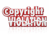 Copyright Violation Legal Rights Infringement Piracy Theft — Stock Photo