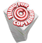 Filing for Copyright Protection Symbol — Foto Stock