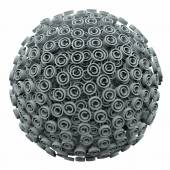 Copyright 3d Symbol Sphere Ball Intellectual Legal Protection — Stock Photo