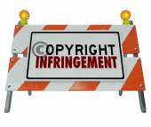 Copyright Infringement Violation Barrier Barricade Construction — 图库照片