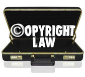 Copyright Law Legal Court Case Attorney Lawyer Suit C Symbol — Stockfoto