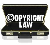 Copyright Law Legal Court Case Attorney Lawyer Suit C Symbol — Zdjęcie stockowe