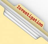 Investigation Manila Folder Research Findings Paper File Documen — Stock Photo