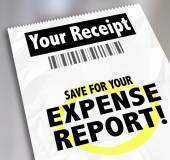 Your Receipt Save For Expense Report Payment Document — Stock Photo
