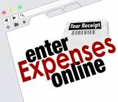 Enter Expense Report Online Receipts Reimbursement Website — Stockfoto