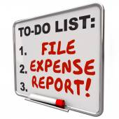 File Expense Report Words To Do List Reminder Board — Stock Photo