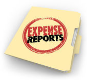 Expense Report Stamp Manila Folder Receipts Documents — Stock Photo