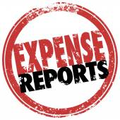 Expense Report Red Stamp Reimburse Business Costs — Stock Photo