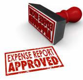 Expense Report Approved Stamp Submit Enter Costs Reimbursement — Stock Photo
