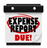 Expense Report Due Date Calendar Deadline Submit — 图库照片