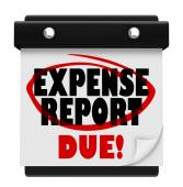 Expense Report Due Date Calendar Deadline Submit — Stock Photo