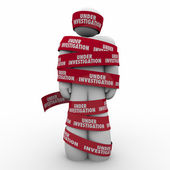 Under Investigation Words Red Tape — Stock Photo