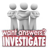 Want Answers Investigate 3d Words Serious People Arms Crossed — Stock Photo