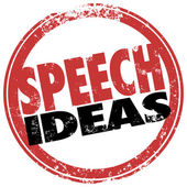 Speech Ideas Round Red Stamp Suggestions Advice Information — Foto Stock