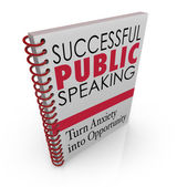 Successful Public Speaking Book Cover Help Advice Giving Speech — Stock Photo