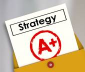 Strategy Document A Plus Grade Great Successful Plan Review — Stock Photo