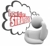 How to Be a Strategist Thinker Thought Cloud Plan — Stock Photo