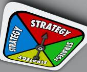 Strategy Word Board Game Spinner Your Turn Win Competition — Foto de Stock