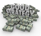 Good Strategy Earning More Money Financial Advice Plan — Foto Stock