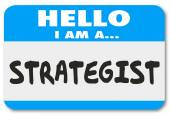 Hello I Am a Strategist Consultant Visionary Name Tag Sticker — Stock Photo